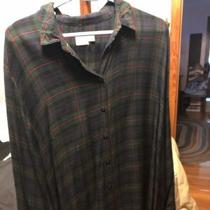 ASOS oversized flannel dress Size 10